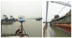 DITEL V61 VSAT Antenna installed on Sand-excavating ship going for Southeast Asia area