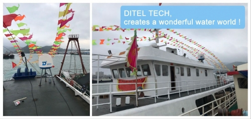 DITEL V61 VSAT Antenna installed on fishing boat