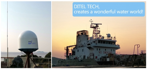 DITEL V91 VSAT Antenna installed on oil tanker going for Southeast Asia and the Indian Ocean lines