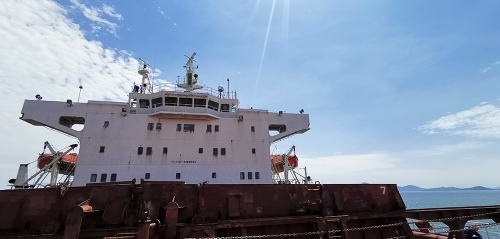 DITEL V61 marine satellite VSAT Antenna installed on Bulk carrier