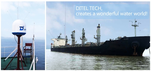 DITEL V61 marine satellite VSAT Antenna installed on Bulk carrier of 50,000 tons
