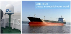 DITEL V61 maritime satellite VSAT installed on Bulk carrier of 18,000 tons