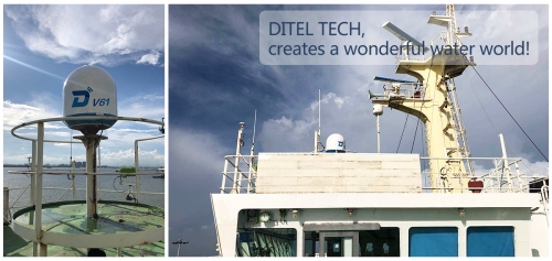 DITEL V61 maritime satellite VSAT installed on a bulk carrier