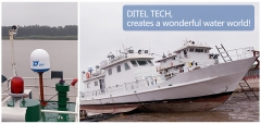 DITEL 63cm maritime VSAT V61 installed on fishing vessel