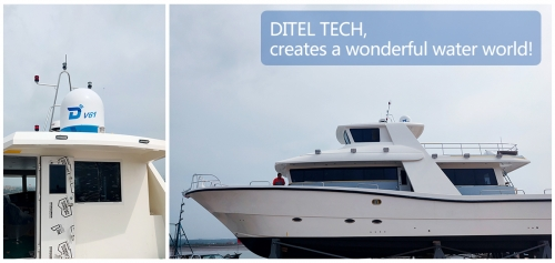 DITEL V61 maritime VSAT installed on a fishing vessel